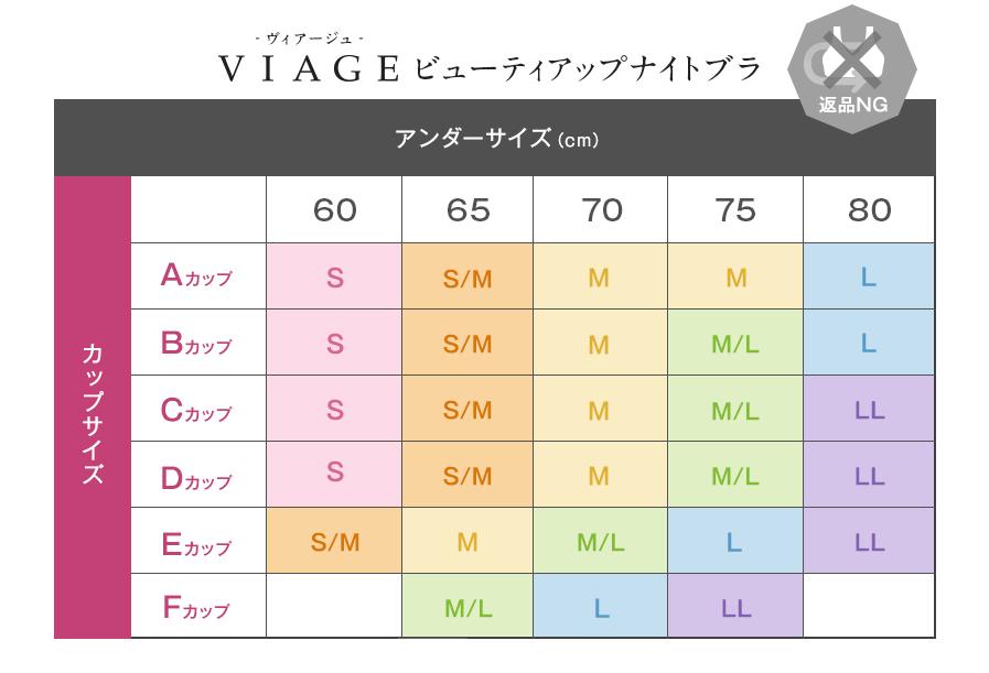 viageサイズ早見表